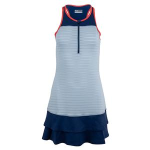 Women`s Ruffle Tennis Dress Smoky Blue and Midnight