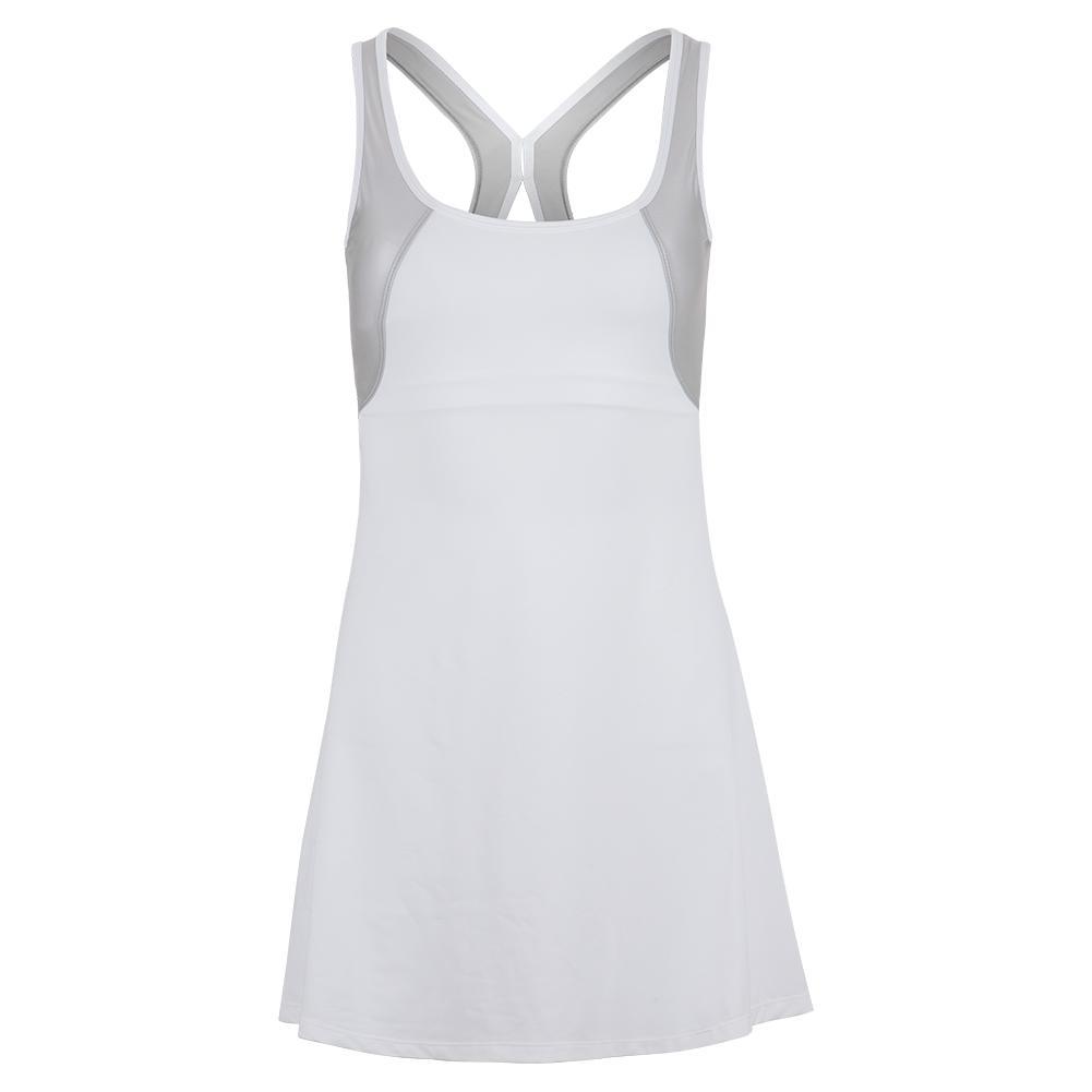 Women's Hazel Tennis Dress White And Silver