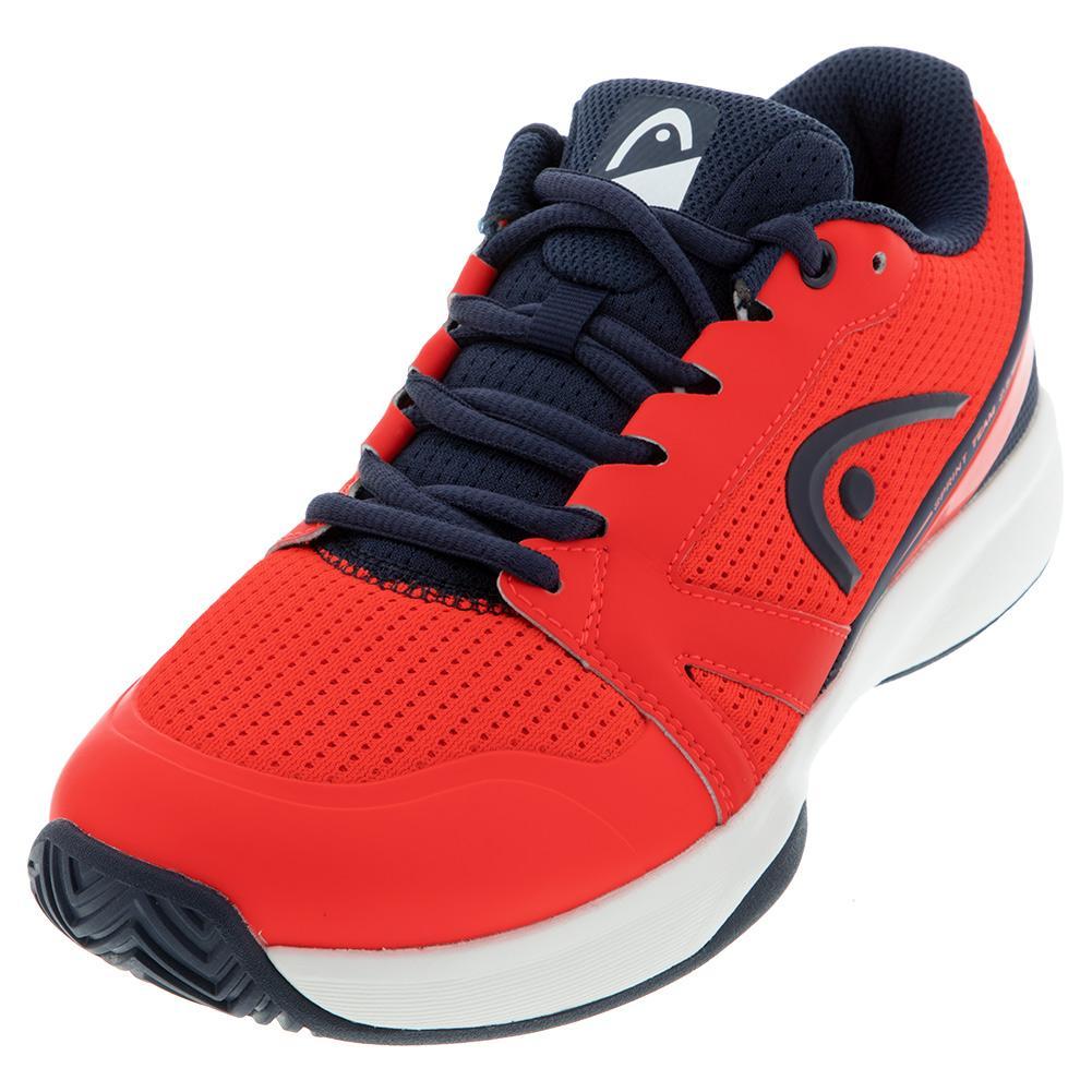 Men's Sprint Team 2.5 Tennis Shoes Neon Red And Dark Blue