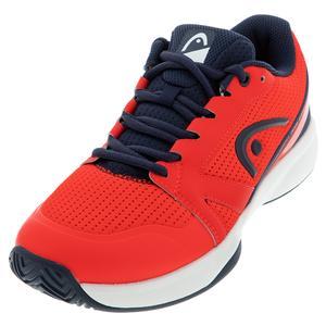 Men`s Sprint Team 2.5 Tennis Shoes Neon Red and Dark Blue
