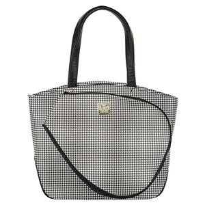 Cassanova Houndstooth Tennis Bag Black