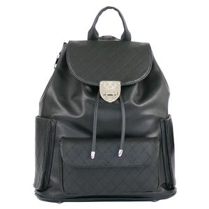 Hampton Quilted Tennis Backpack Black