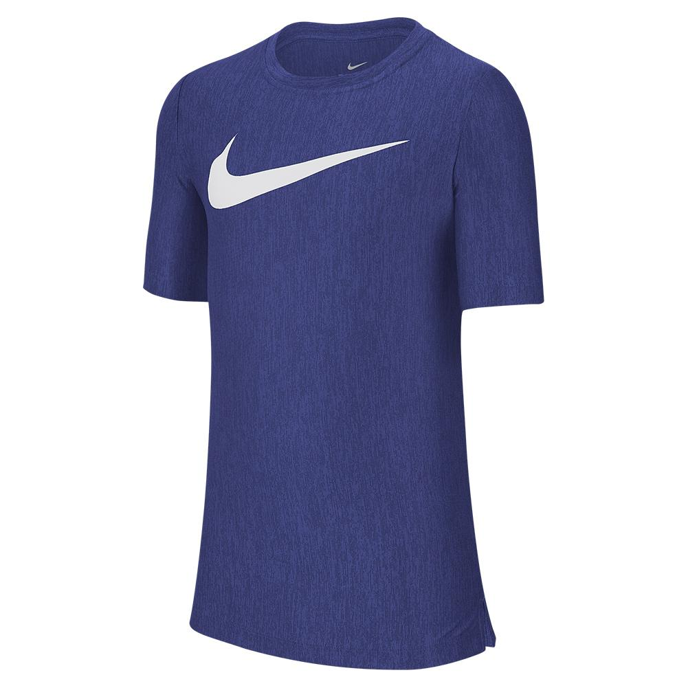 Boys ` Dri- Fit Training Top Midnight Navy And White