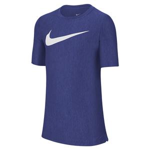 Boys` Dri-FIT Training Top Midnight Navy and White