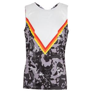 Girls` Camo Tie Back Tennis Tank White