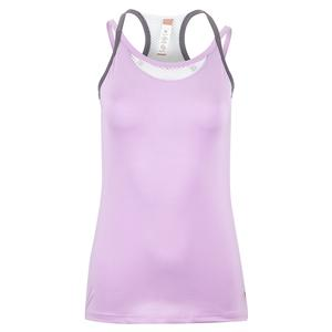 Women`s Purple Pursuit Strappy Tennis Tank Lilac