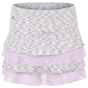 Women`s Purple Pursuit Tennis Skort Ash Heather and Lilac