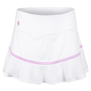 Women`s Purple Pursuit Tennis Skort White