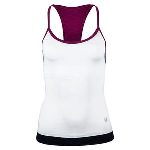 Women`s Cross Back Tennis Tank White