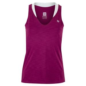 Women`s Love Tennis Tank Boysenberry