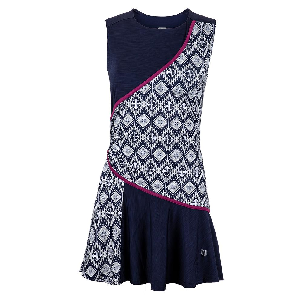Women's Triad Tennis Dress Iman Print And Blue Nights