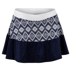 Women`s Elevate Swing 13 Inch Tennis Skort Iman Print and Blue Nights