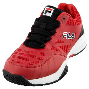 Juniors` Axilus 2 Energized Tennis Shoes Fila Red and White