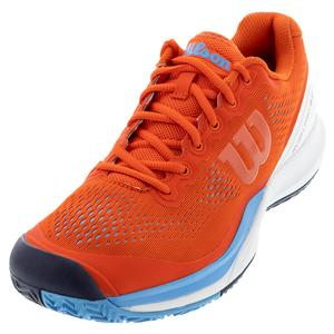 Men`s Rush Pro 3.0 Tennis Shoes Tangerine and White