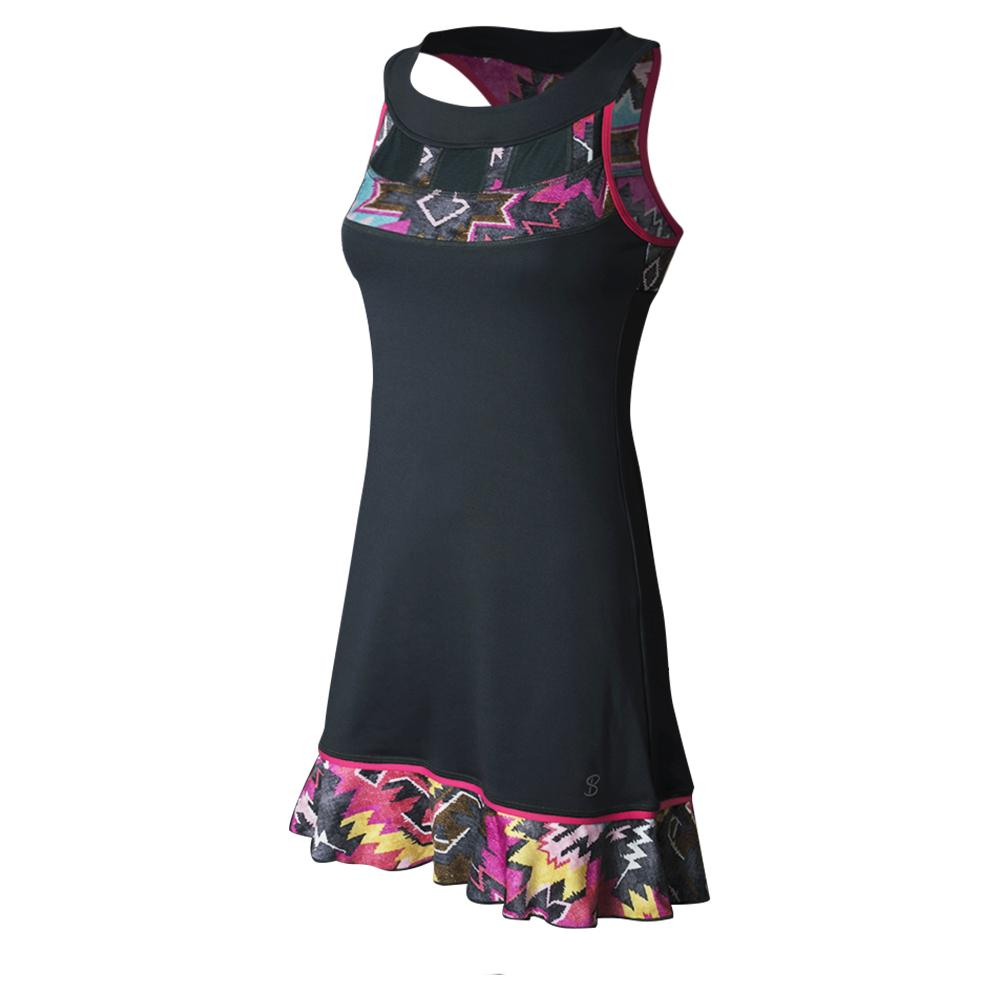 Women's Tennis Dress Grey And Tribe Print
