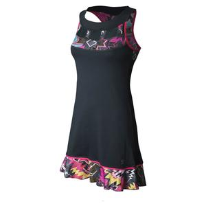 Women`s Tennis Dress Grey and Tribe Print