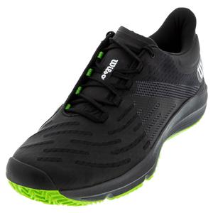 Men`s Kaos 3.0 Tennis Shoes Black and Blade Green