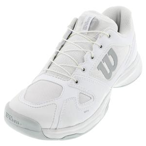 Juniors` Rush Pro Quick Lace Tennis Shoes White and Pearl Blue