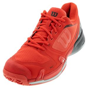 Men`s Rush Pro 2.5 Pickleball Shoes Infrared and Black