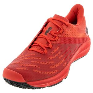 Men`s Kaos 3.0 Tennis Shoes Infrared Red and Black