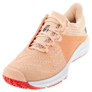 Women`s Kaos 3.0 Tennis Shoes Tropical Peach and White