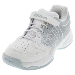 Juniors` Kaos Tennis Shoes White and Pearl Blue