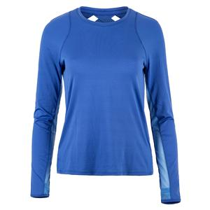 Women`s Velocity Criss-Cross Long Sleeve Tennis Top Parisian Blue