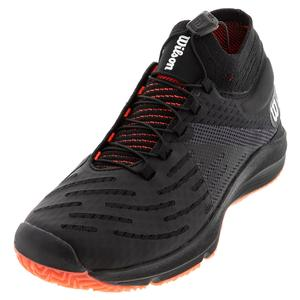 Women`s Kaos 3.0 SFT Tennis Shoes Black and Fiery Coral
