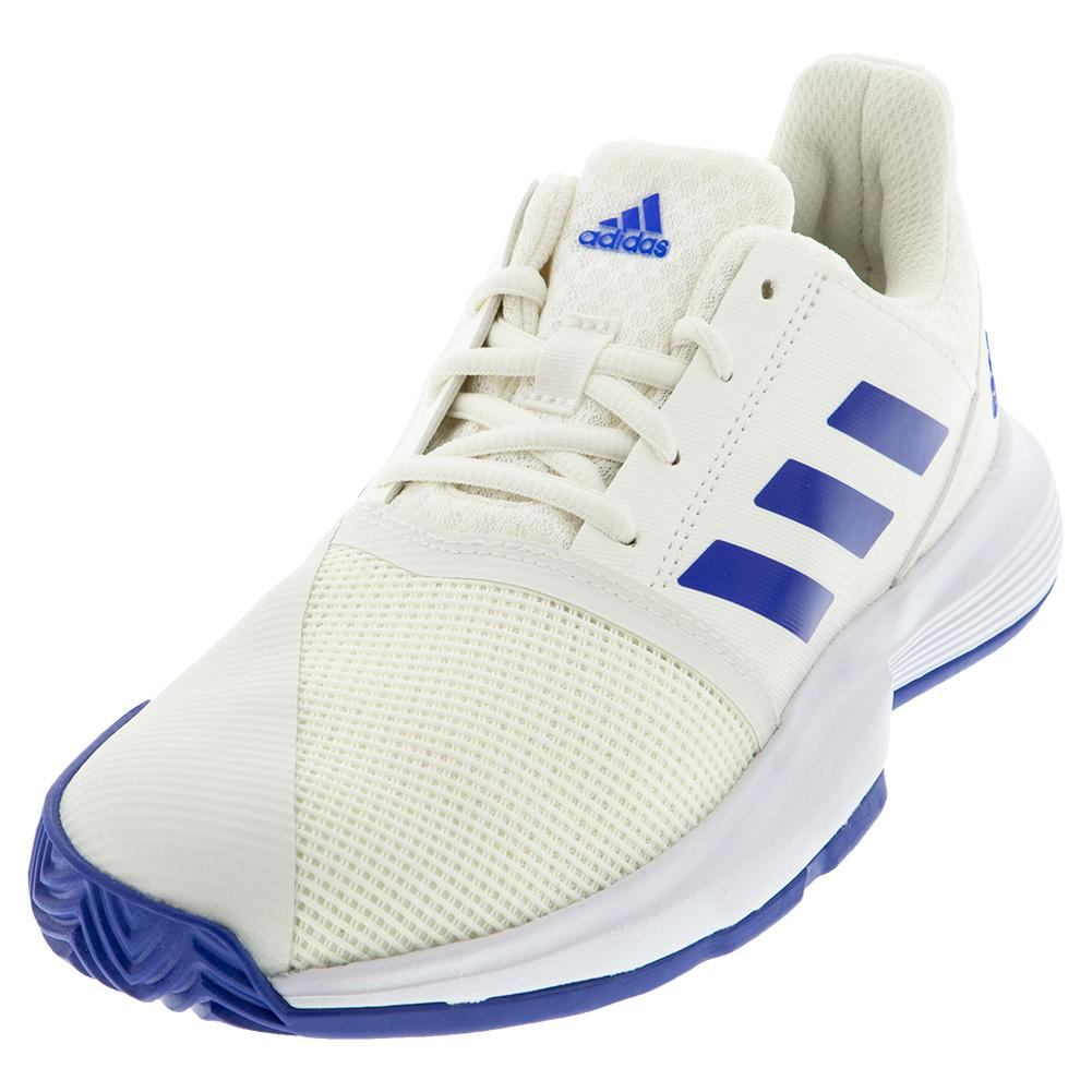 Juniors ` Courtjam Xj Tennis Shoes Off White And Team Royal