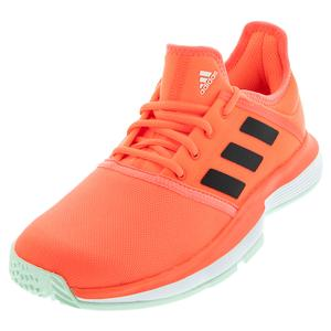 Juniors` SoleCourt Tennis Shoes Signal Coral and Core Black