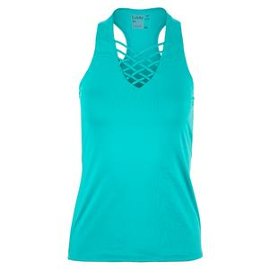 Women`s Interlace Tennis Tank Aquamarine