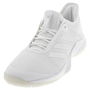 Juniors` Adizero Club 2 Tennis Shoes White