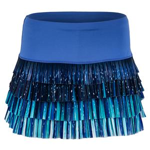 Women`s Aura Pleated Tennis Skort Parisian Blue