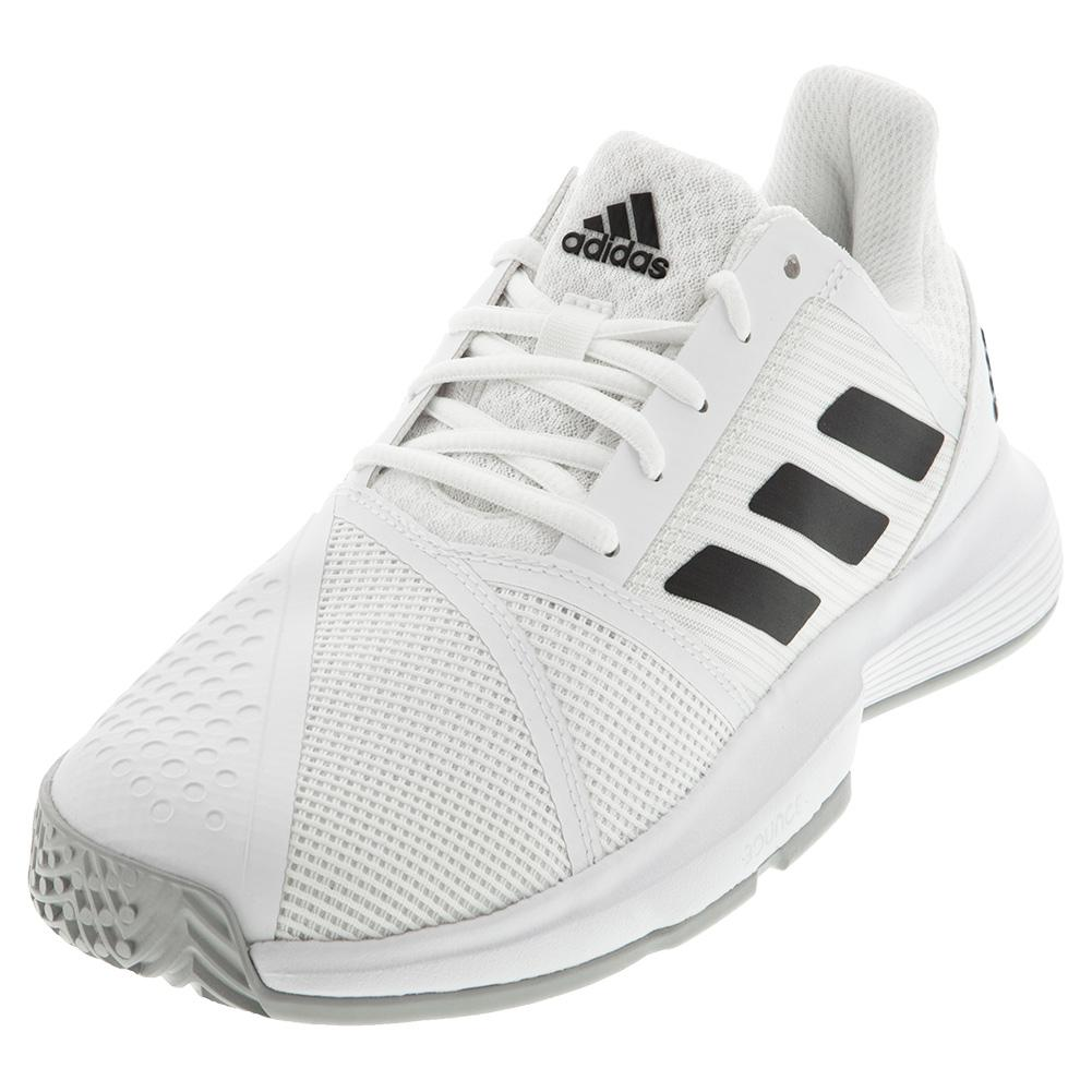 Men's Courtjam Bounce Tennis Shoes White And Core Black