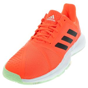 Men`s CourtJam Bounce Tennis Shoes Dash Green and Signal Coral