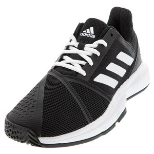 Men`s CourtJam Bounce Tennis Shoes Core Black and White
