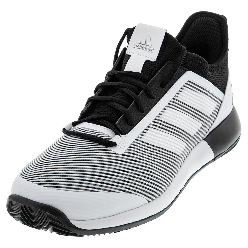 Men's Adizero Defiant Bounce 2 Tennis Shoes Core Black And White