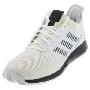 Men`s Adizero Defiant Bounce 2 Tennis Shoes White and Core Black