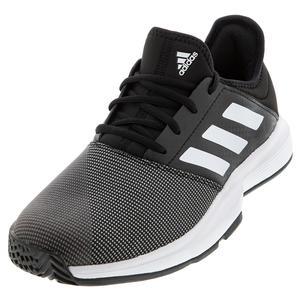 Men`s GameCourt Tennis Shoes Core Black and White