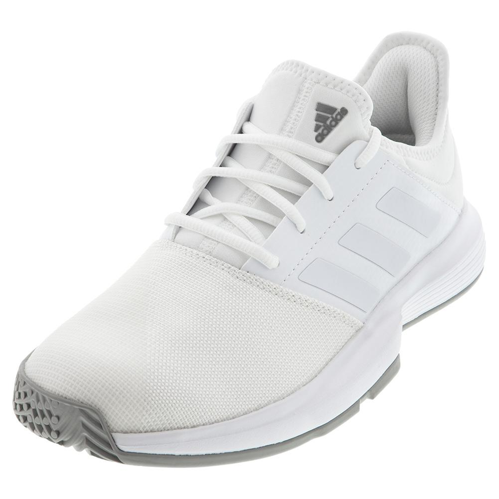 Men's Gamecourt Tennis Shoes White And Dove Gray