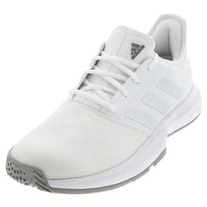 Men`s GameCourt Tennis Shoes White and Dove Gray