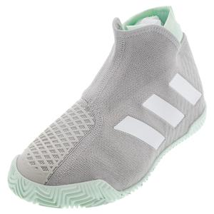 Men`s Stycon Tennis Shoes Gray Two and White