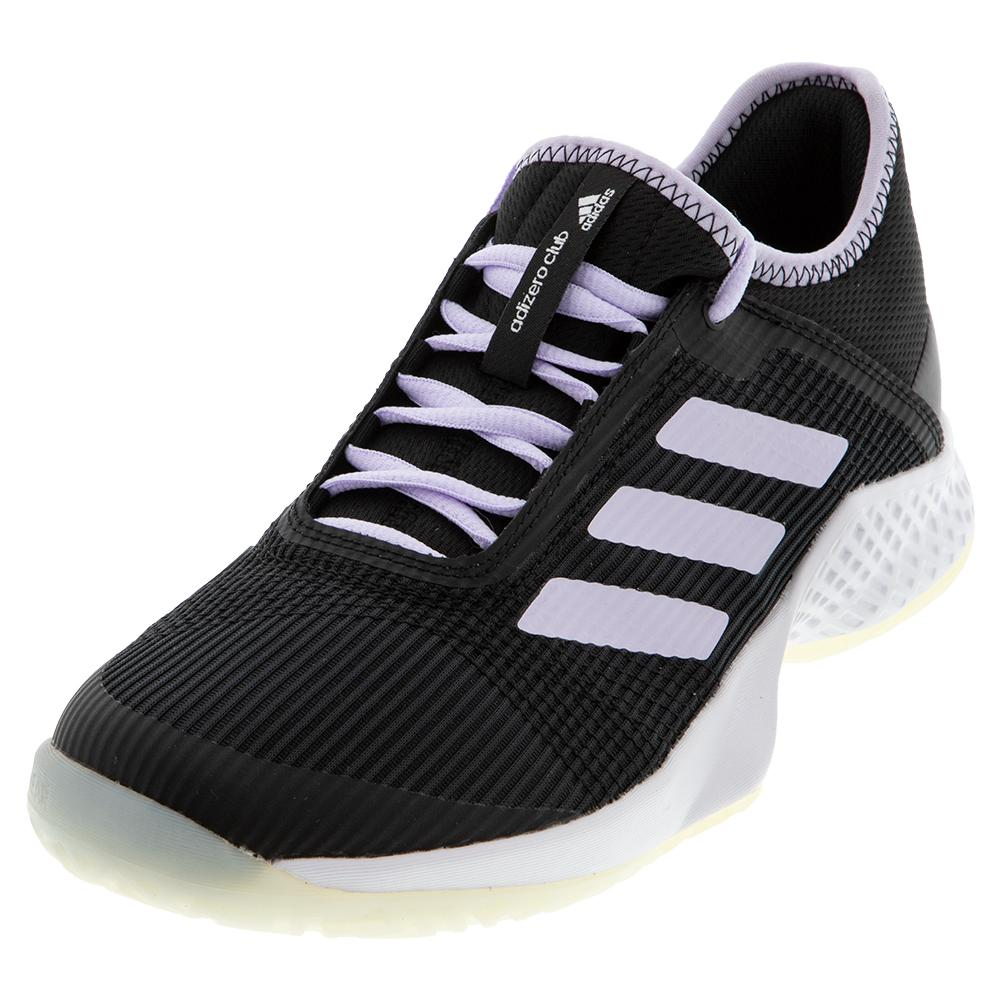 Women's Adizero Club 2 Tennis Shoes Core Black And Purple Tint