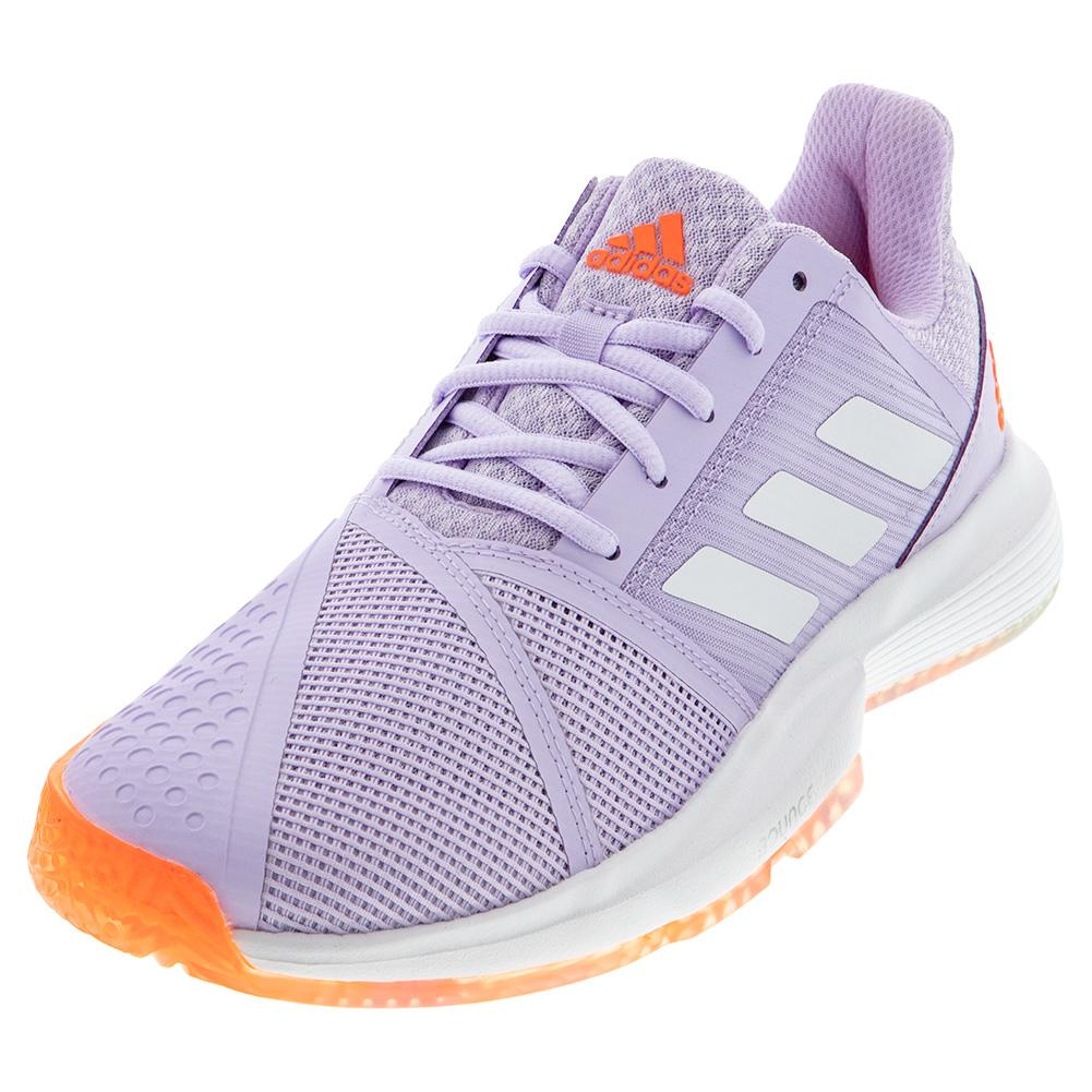 Women's Courtjam Bounce Tennis Shoes Signal Coral And Purple Tint