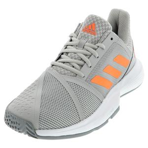 Women`s CourtJam Bounce Tennis Shoes Gray Two and Signal Coral