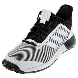 Women`s Adizero Defiant Bounce 2 Tennis Shoes Core Black and White