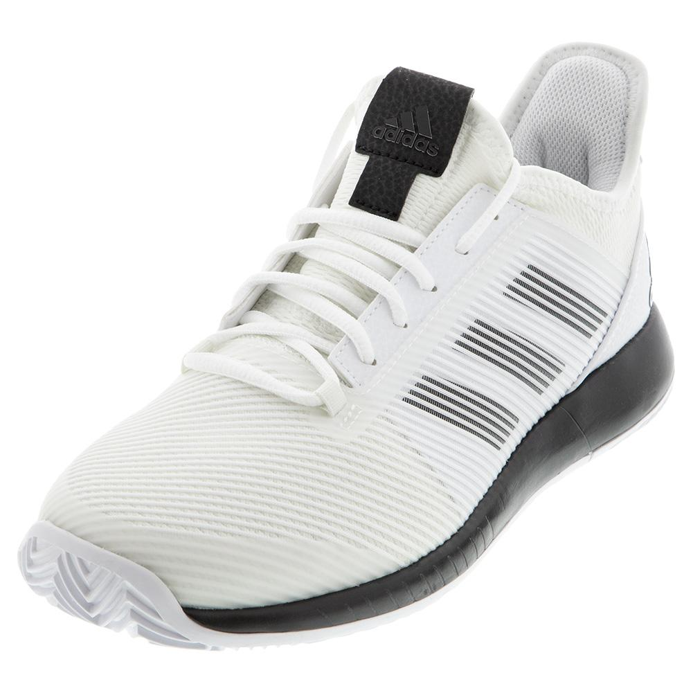 Women's Adizero Defiant Bounce 2 Tennis Shoes White And Core Black