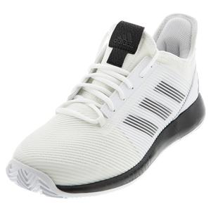 Women`s Adizero Defiant Bounce 2 Tennis Shoes White and Core Black