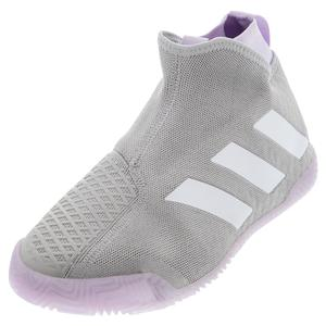 Women`s Stycon Tennis Shoes Gray Two and White