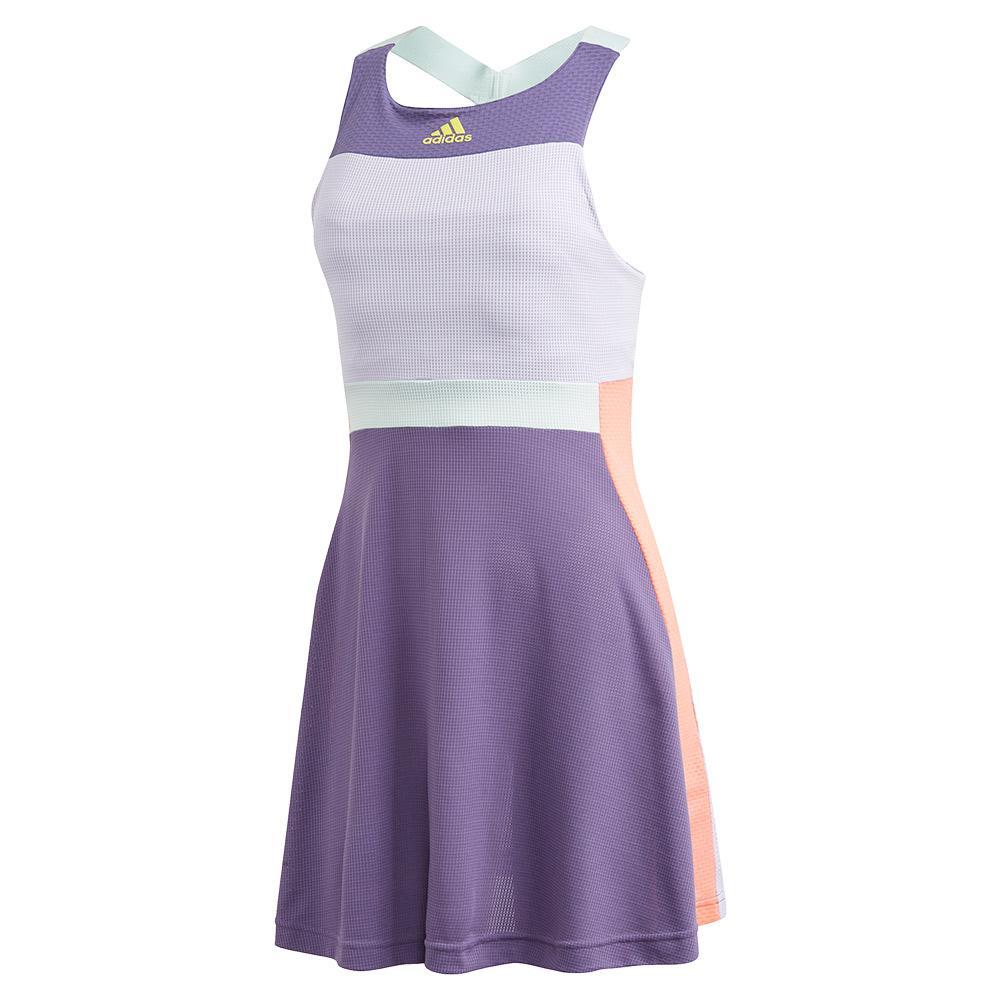 Women's Heat.Rdy Tennis Dress Tech Purple And Shock Yellow